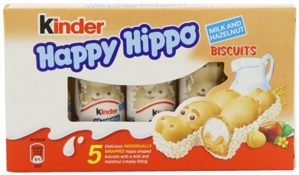 Kinder Happy Hippo Biscuits Milk and Hazelnut 5 x 20.7g 103g