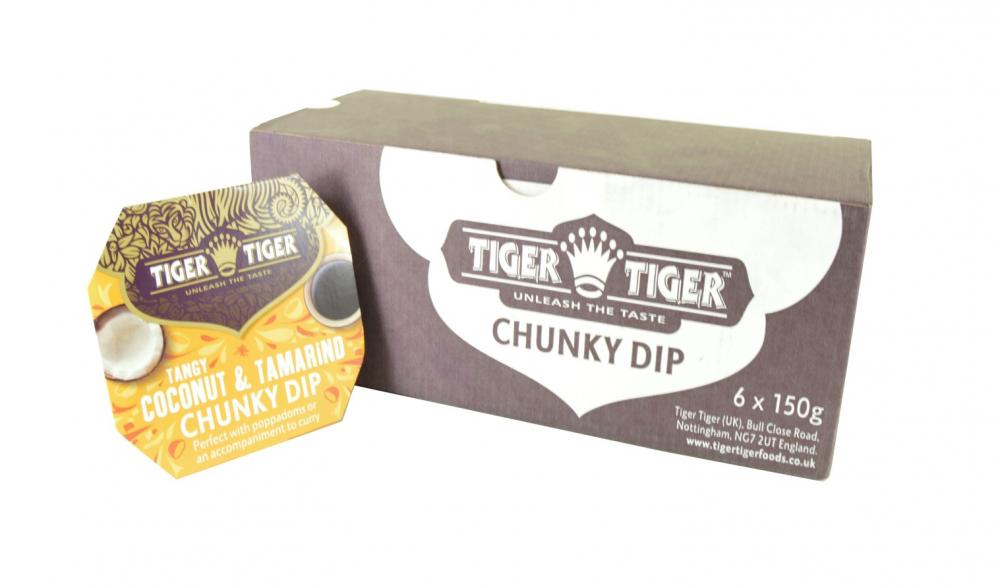 DANS DEAL  Tiger Tiger Tangy Coconut and Tamarind Chunky Dip 6 x 150g