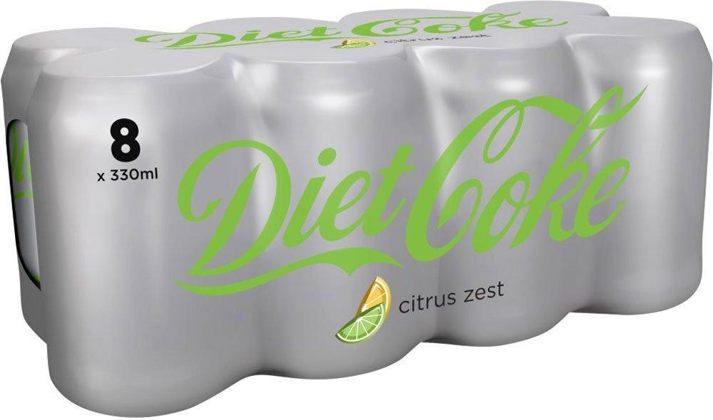 Diet Coke With Citrus Zest 330ml x 8