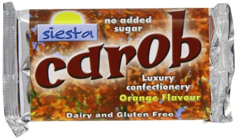 Siesta No Added Sugar Orange Carob Bar 50 g