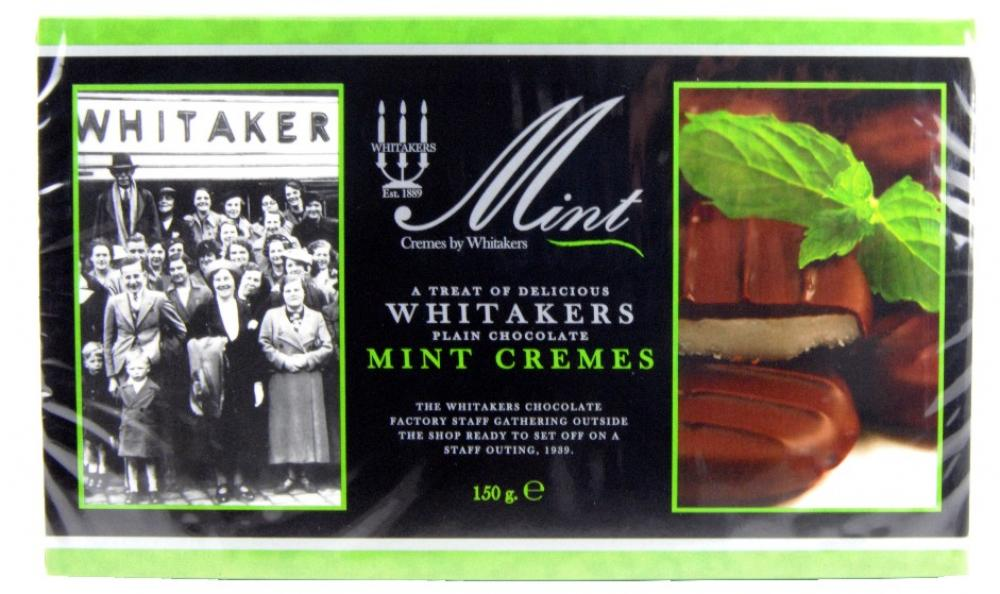 Whitakers Plain Chocolate Mint Cremes