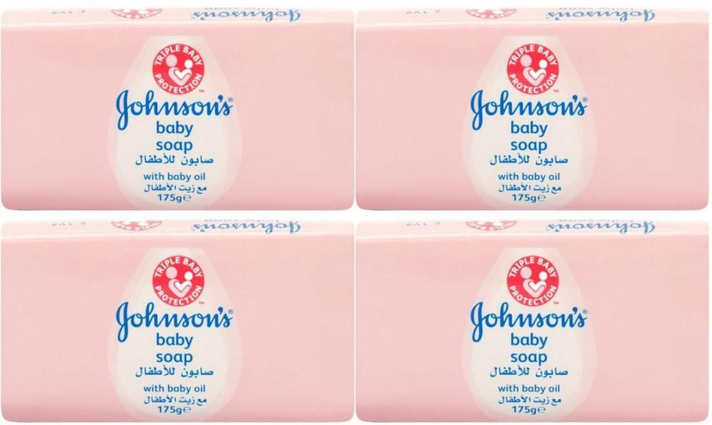 Johnsons Baby Soap 175g x 4