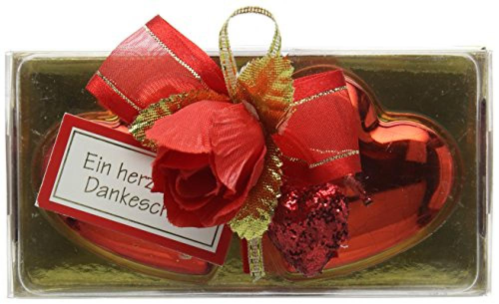 Gunthart Medium Heart Candles on Box with Pralines 54g