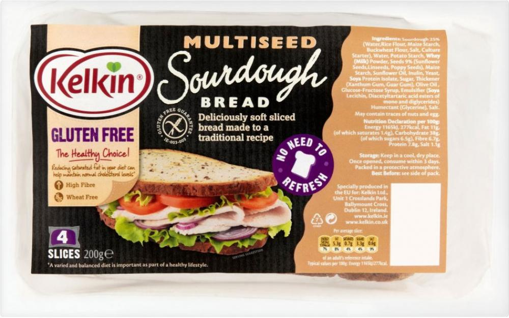 Kelkin GF Multiseed Sour Dough Bread 200 g