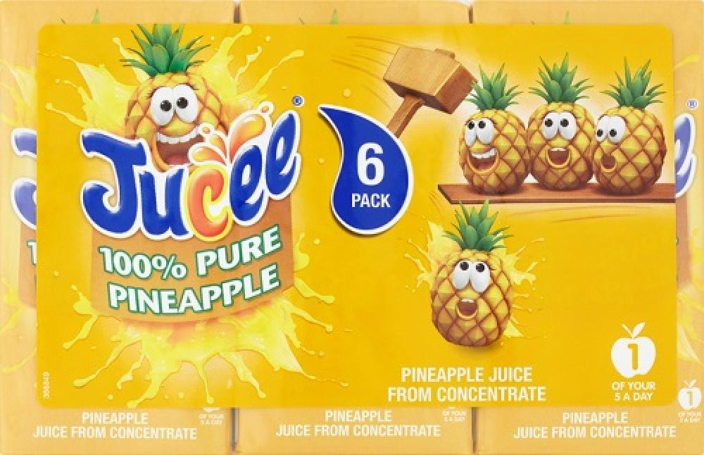 Jucee Pure Pineapple Juice 6 x 200ml