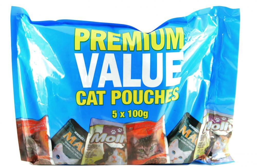 Premium Value Cat Pouches 5 x 100g