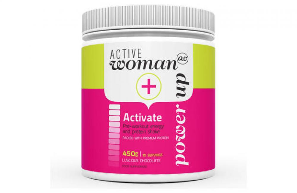 Active Woman Activate Pre Workout Energy and Protein Shake Luscious Chocolate 450g