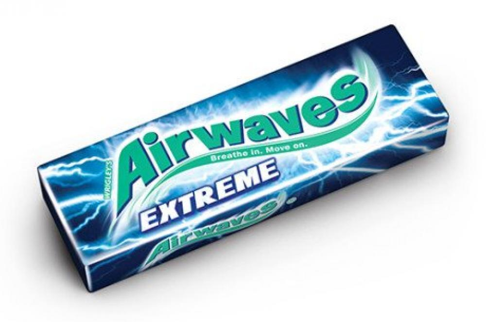 Wrigleys Airwaves Extreme Menthol and Eucalyptus Chewing Gum