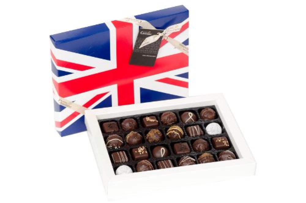 Martins Chocolatier Dark and Delicious Selection 24 Chocolate Union Jack Gift Box