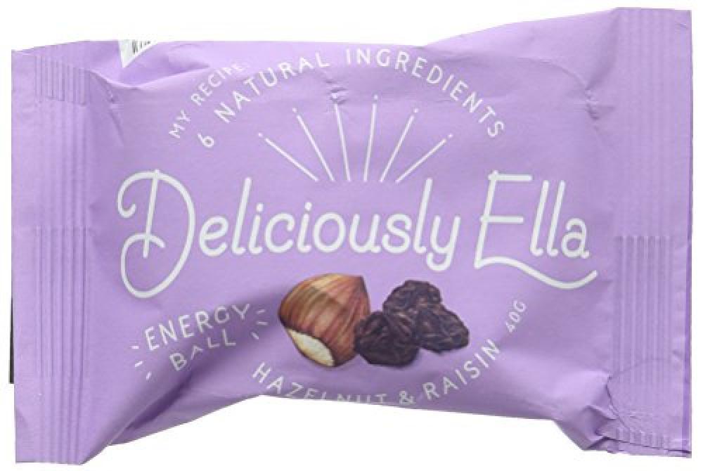 Deliciously Ella Hazelnut and Raisin Energy Ball 40 g