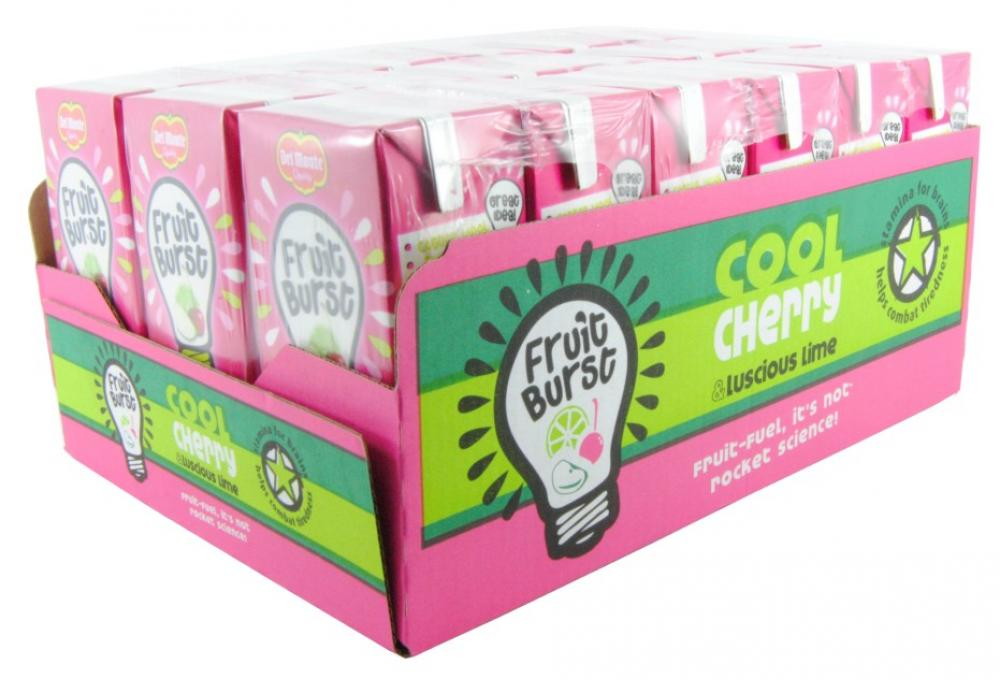 Case Price Del Monte Fruit Burst Cool Cherry And Luscious Lime Juice