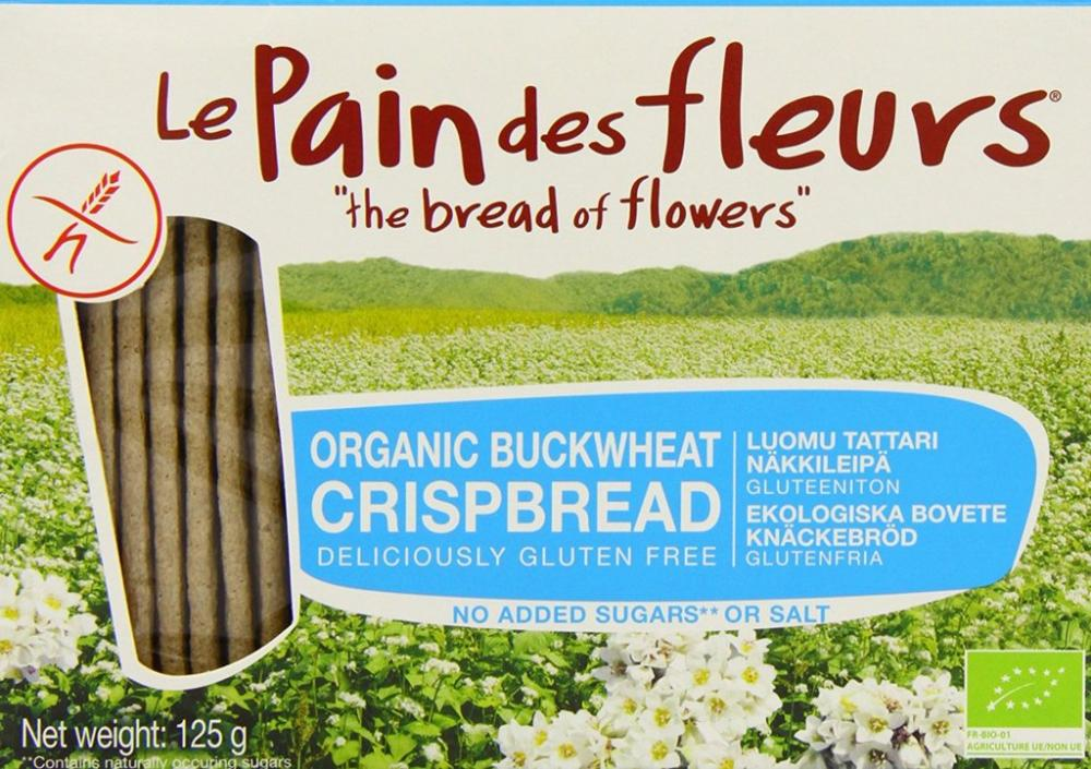 Le Pain Des Fleurs Organic Buckwheat Crisp Bread No Salt 125 g