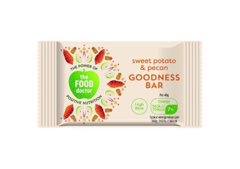 The Food Doctor Sweet Potato and Pecan Goodness Bar 40g