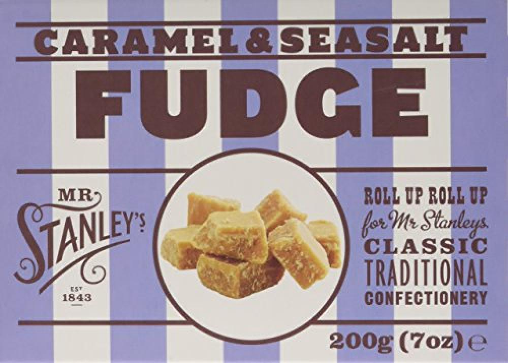 Mr Stanleys Caramel and Sea Salt Fudge Box 200 g
