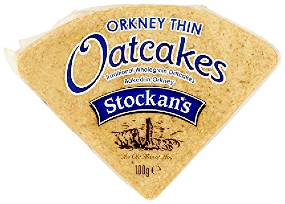 Stockans Oatcakes Orkney Thin Triangular Oatcake 100 g