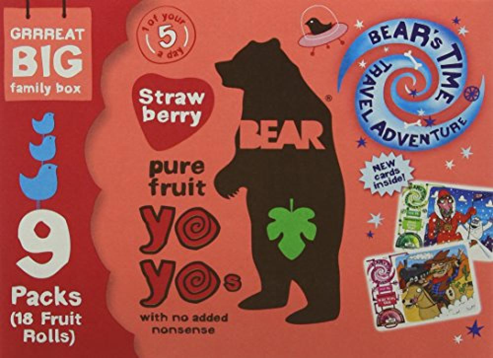 Bear Yo Yos Pure Fruit Strawberry Family Pack 9x20g