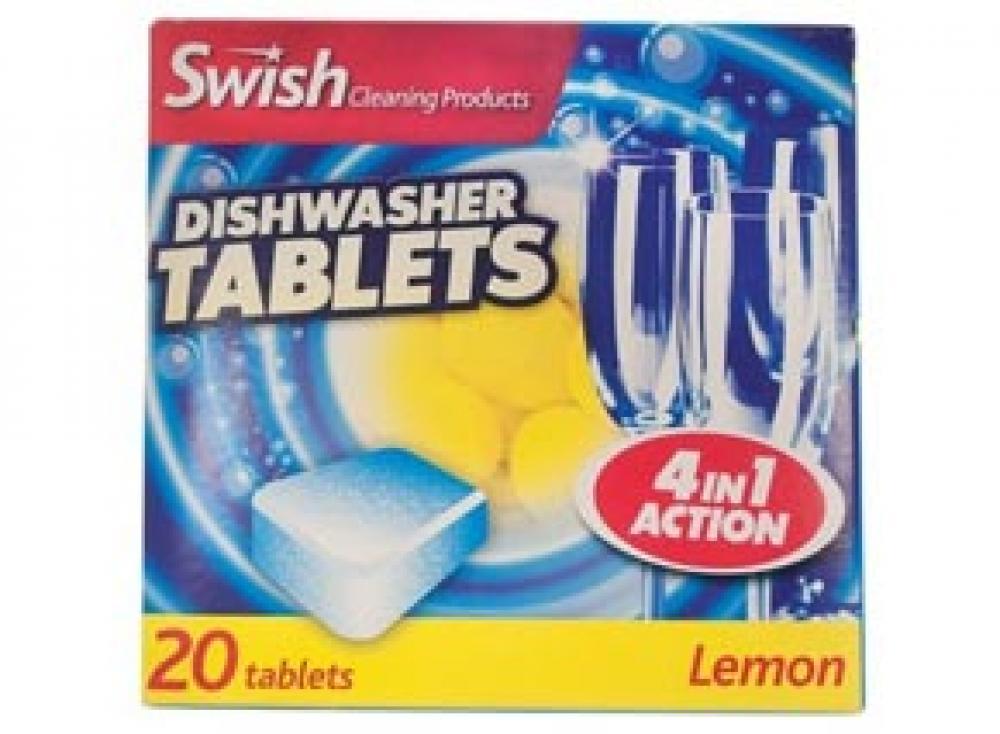 Swish 4 in 1 Lemon Dishwasher Tablets 20 Pack
