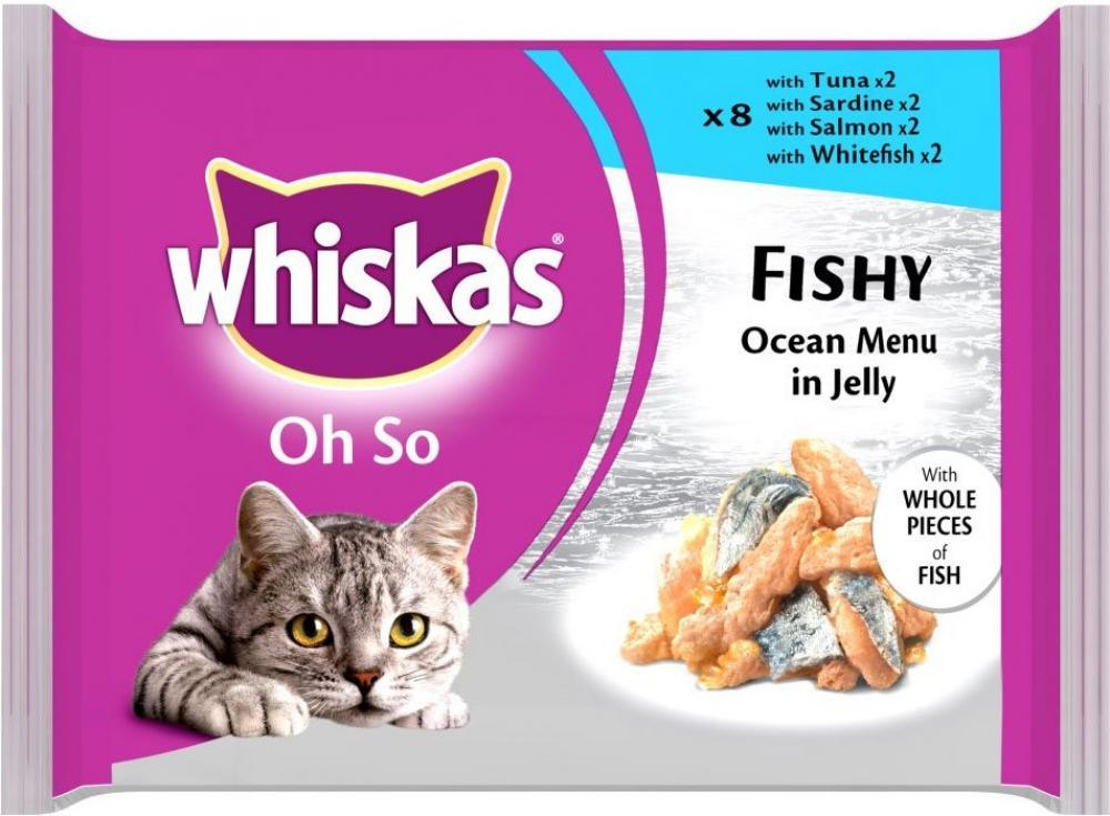 Whiskas Oh So Fishy Ocean Menus in Jelly 85g x 8