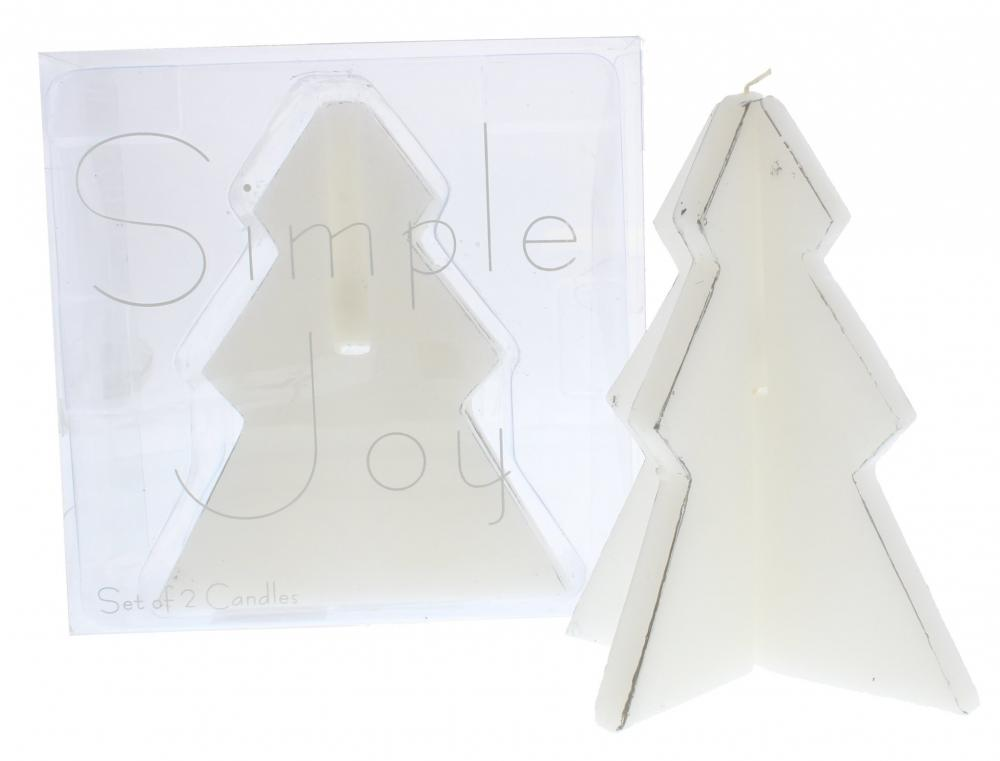 Prices Christmas Tree Candle pack of 2