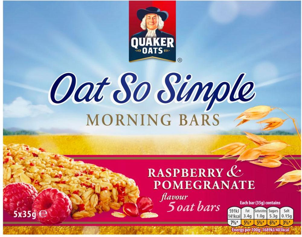 Quaker Oats Oat So Simple Morning Bars Raspberry and Pomegranate 35g x 5