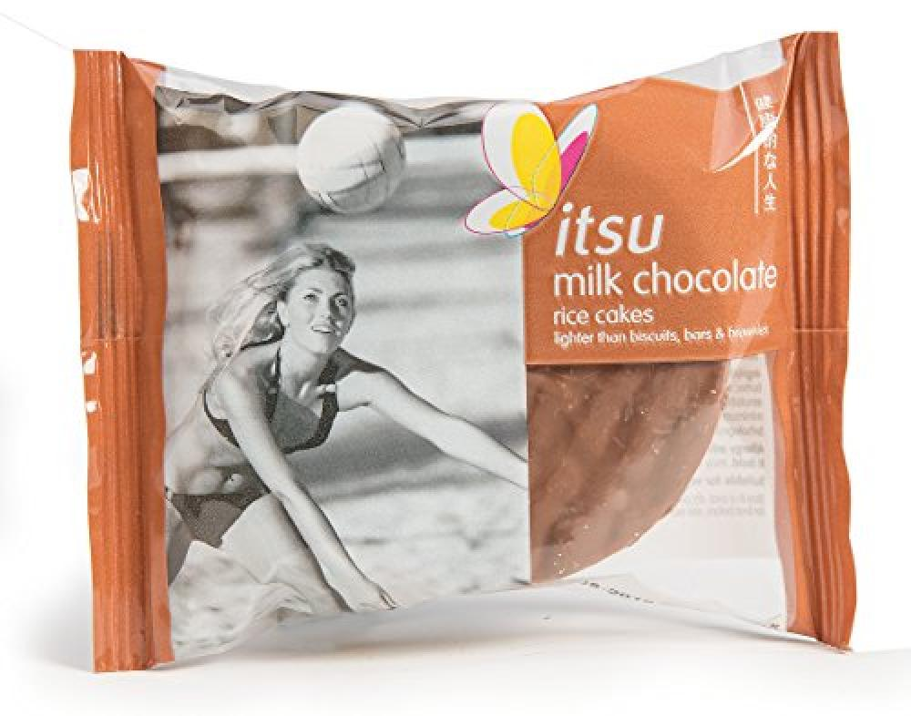 Itsu Milk Chocolate Rice Cakes 50g