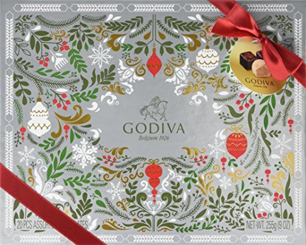 Godiva Christmas 20 Assorted Chocolates Gift Box 255g