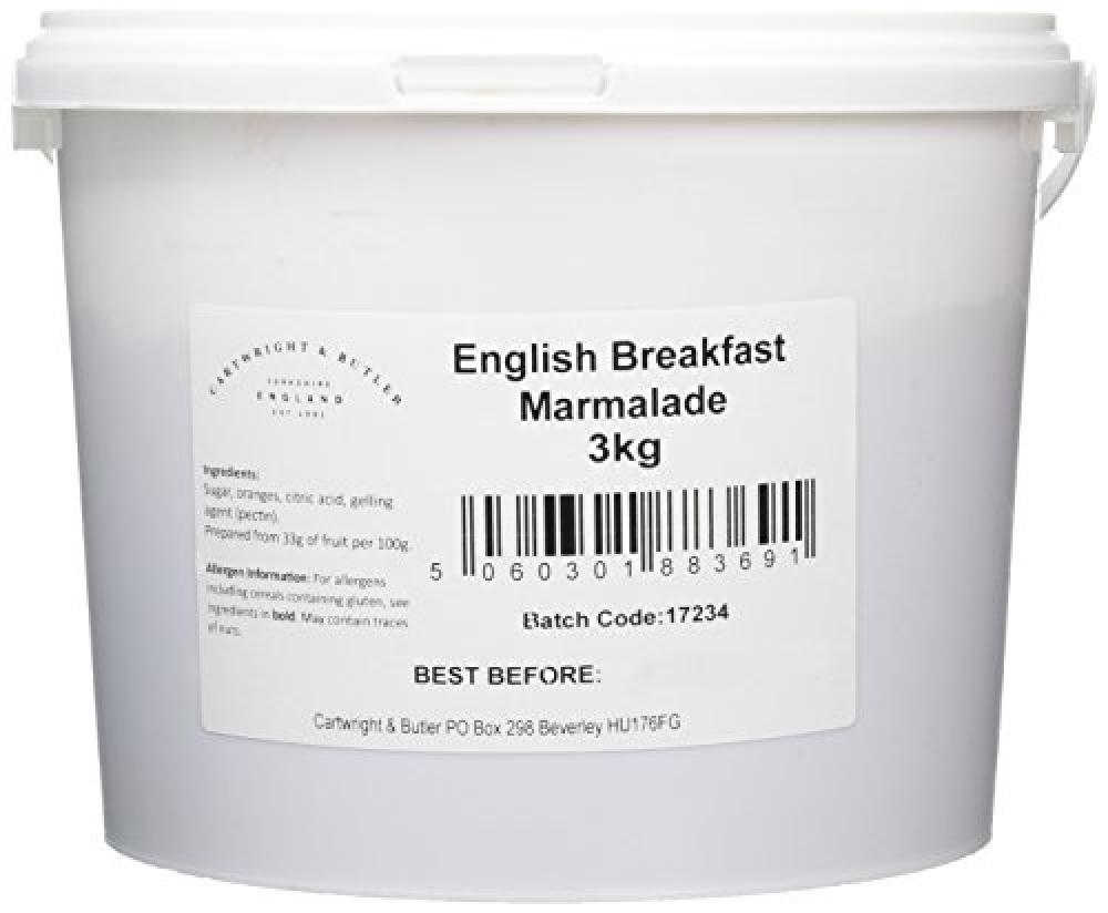 Cartwright and Butler English Breakfast Marmalade in Tub 3kg
