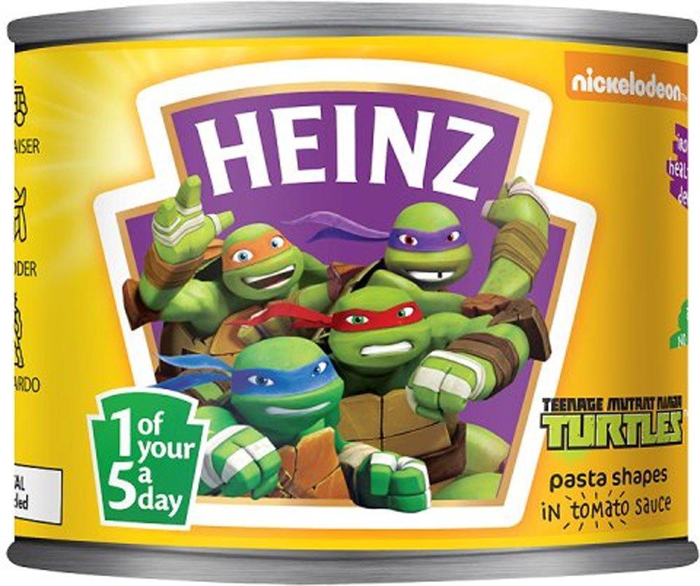 Heinz Teenage Mutant Ninja Turtles Pasta Shapes in Tomato Sauce 205g