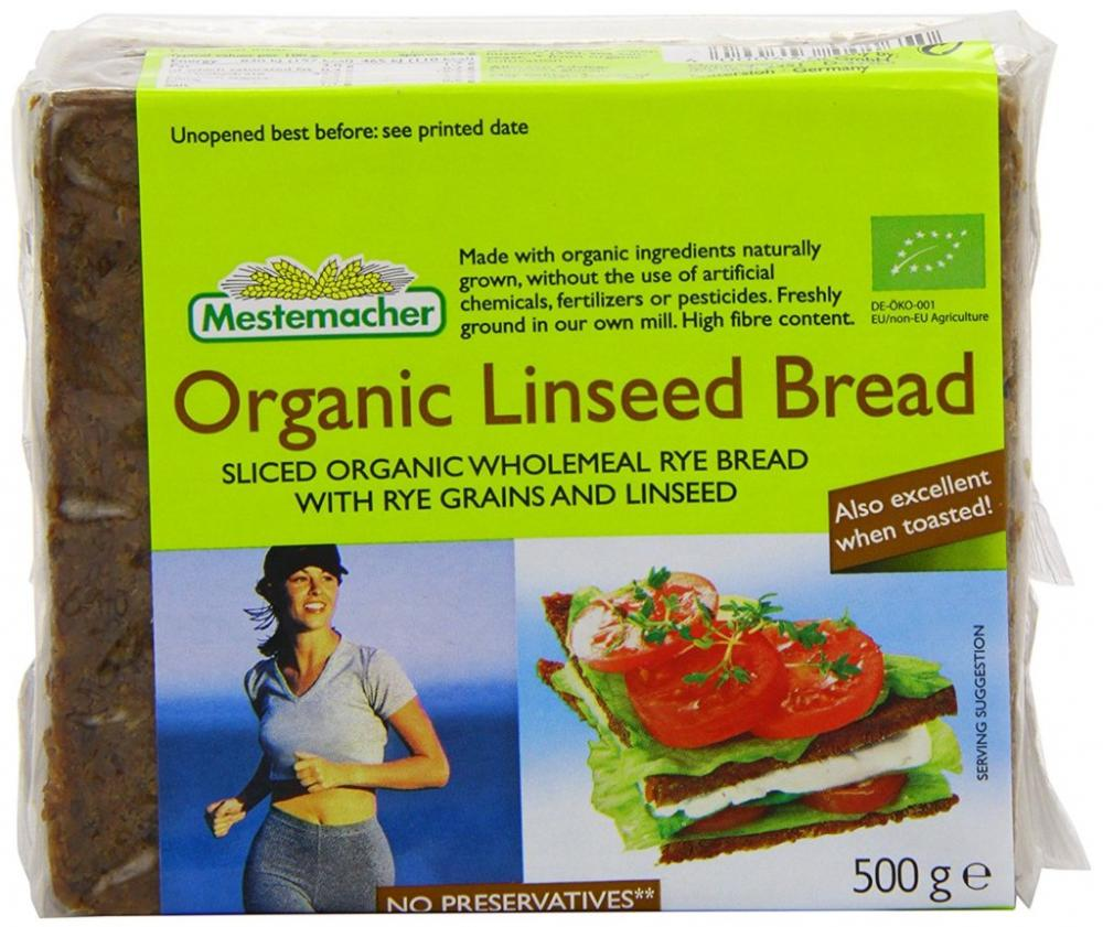 CLEARANCE  Mestemacher Organic Linseed Bread 500g
