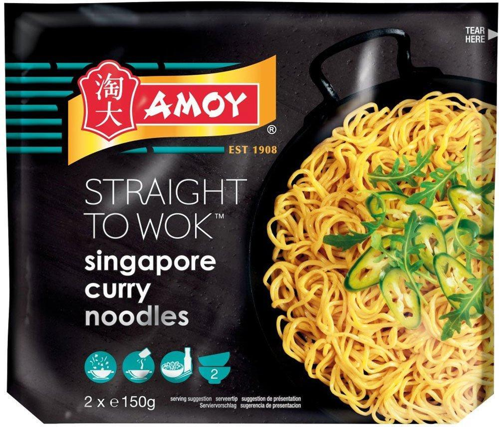 Amoy Straight To Wok Singapore Curry Noodles 300g