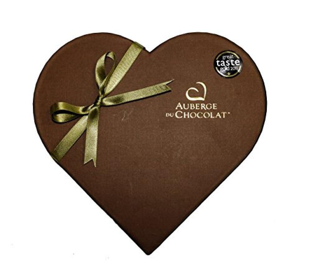 Auberge du Chocolate Champagne Dark Truffle Heart Box
