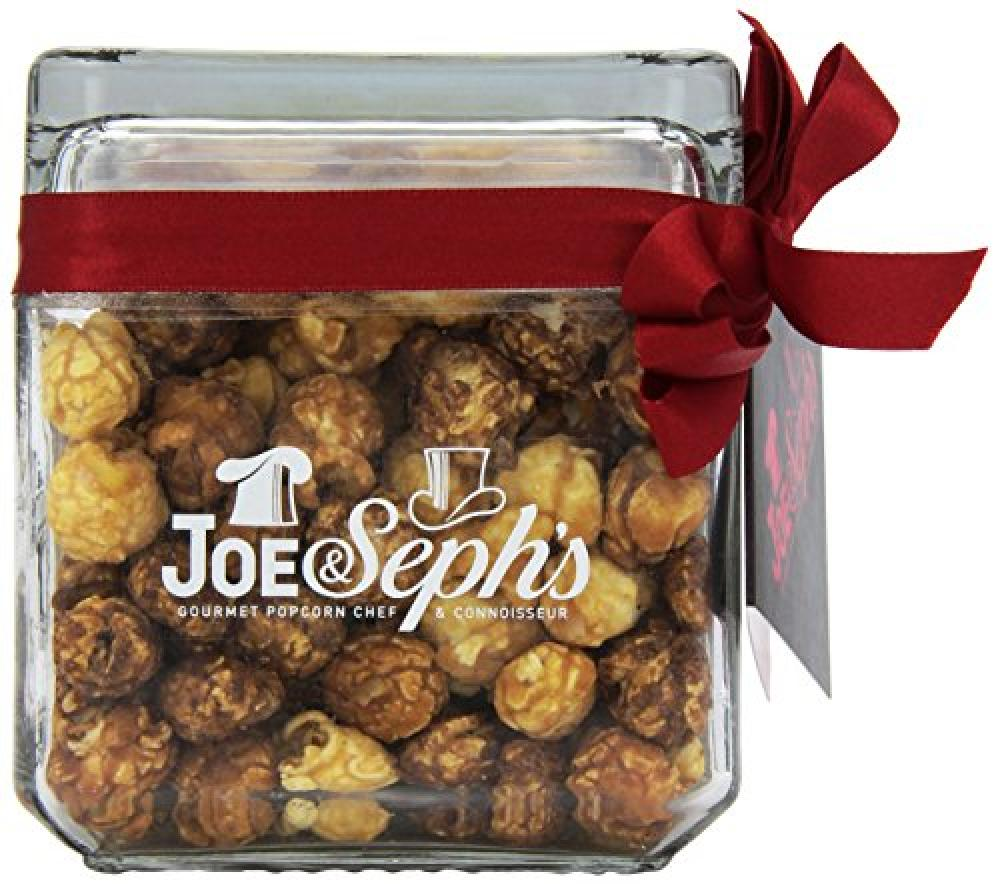 FURTHER REDUCTION  Joe and Sephs Chocolate Trio Square Glass Popcorn Jar 120g