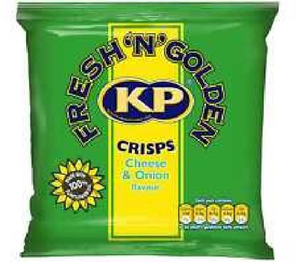 Kp Crisps Cheese and Onion Flavour 25g