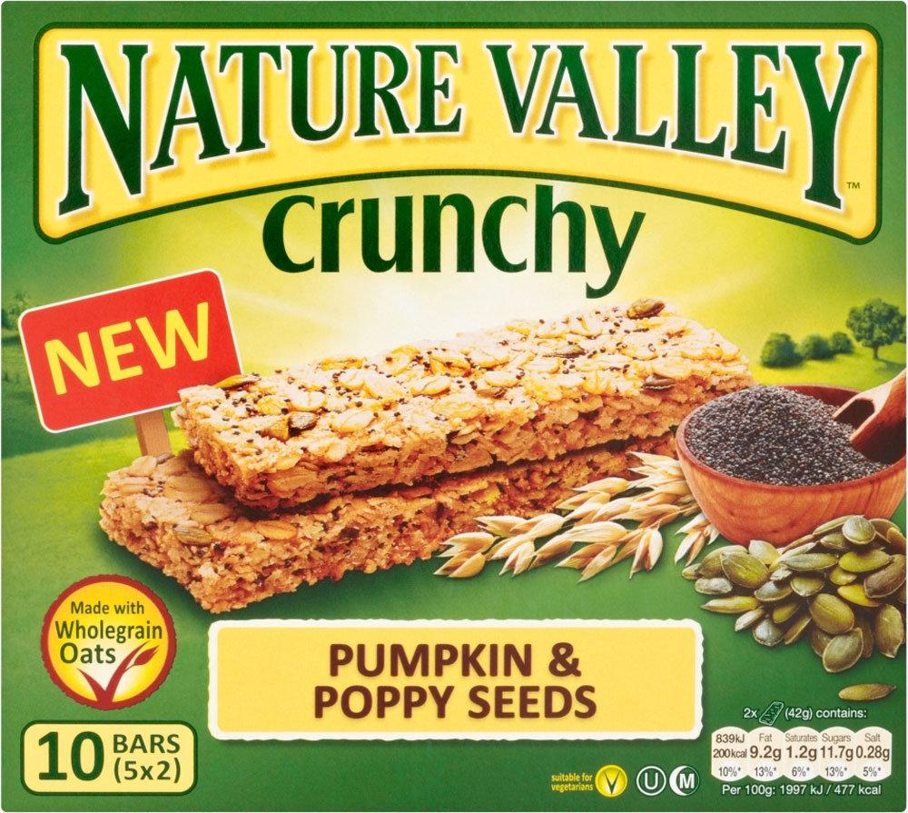 Nature Valley Crunchy Pumpkin and Poppy Seeds 42g x 5