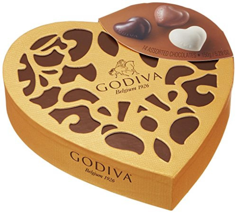 FURTHER REDUCTION  Godiva Coeur Iconique Grand Chocolates 14 Pieces