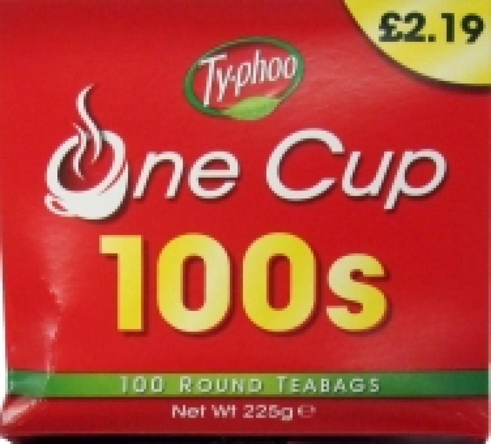 Typhoo One Cup 100 Round Teabags