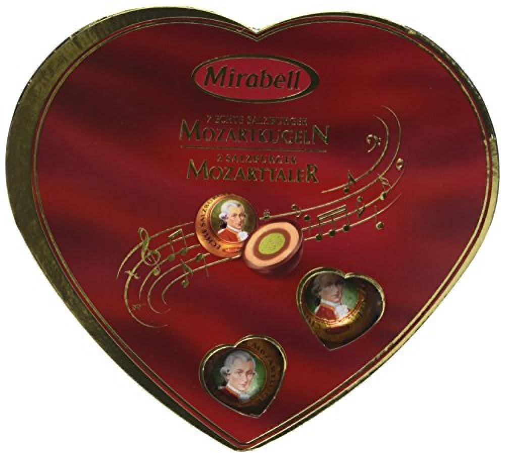 Gunz Mirabell 7-Pieces Mozart Balls and 2-Pieces Thaler Heart 159g