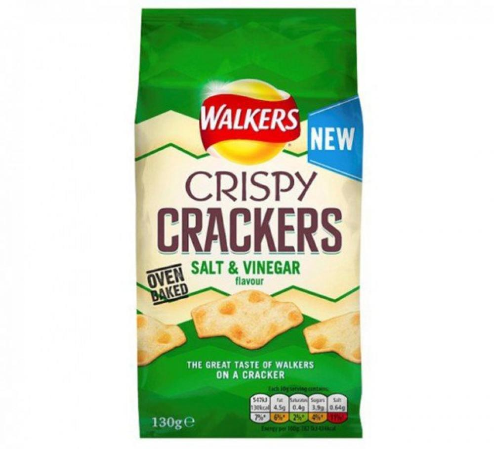 Walkers Crispy Crackers Salt and Vinegar Flavour 130g