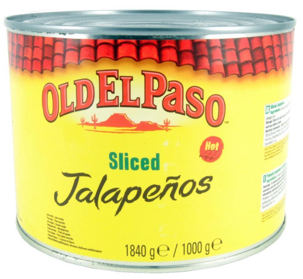 Old El Paso Sliced Green Jalapenos 1.84kg