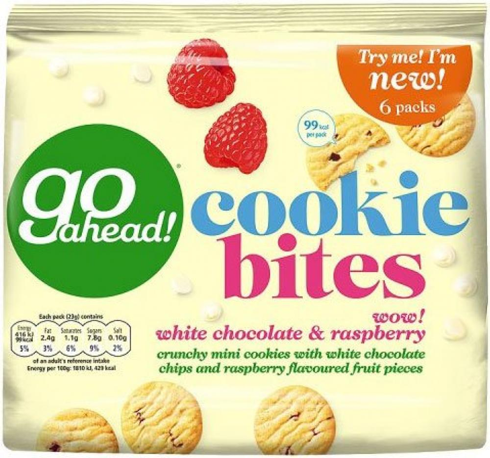 Go Ahead Cookie Bites White Chocolate and Raspberry 23g x 6
