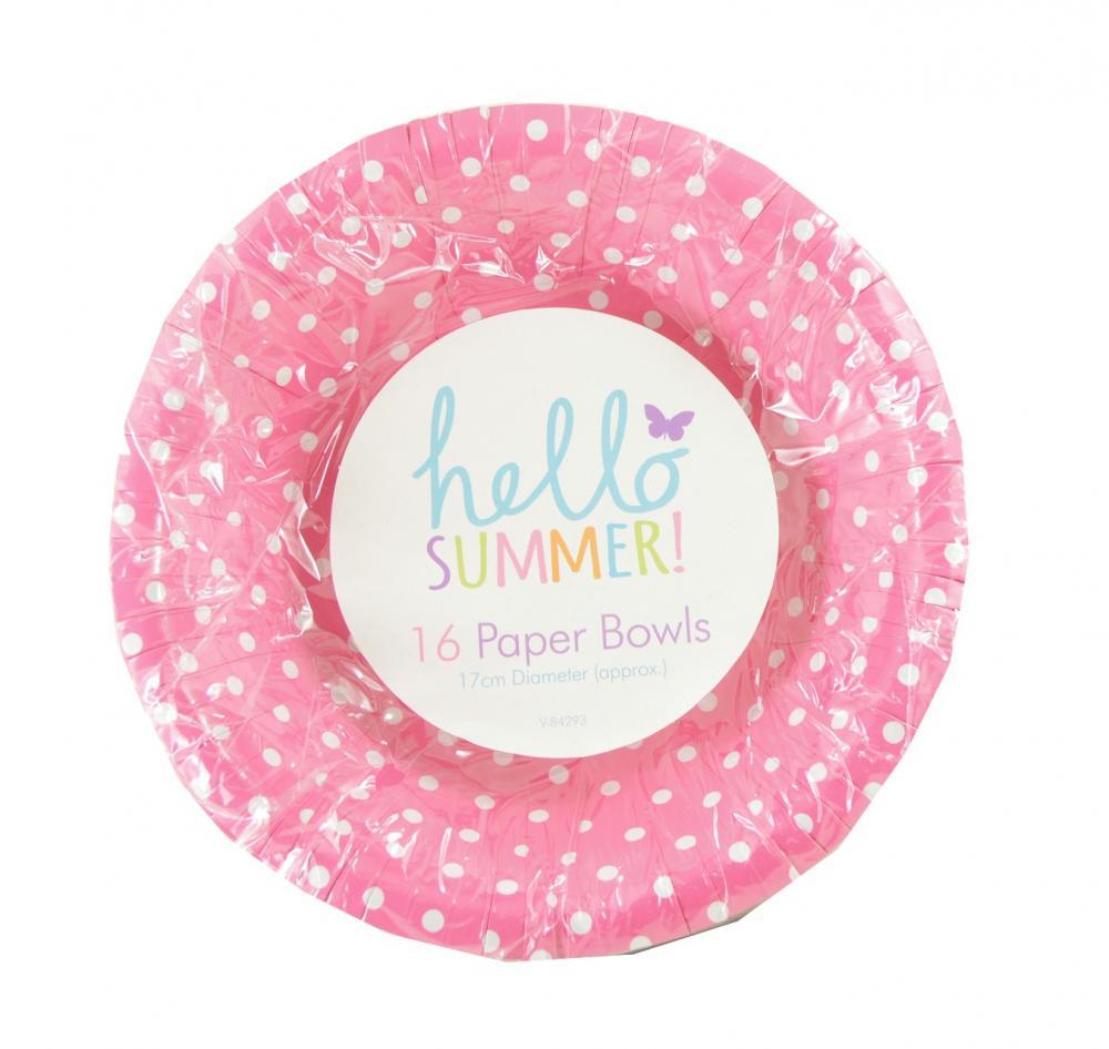 Hello Summer 16 Paper Bowls