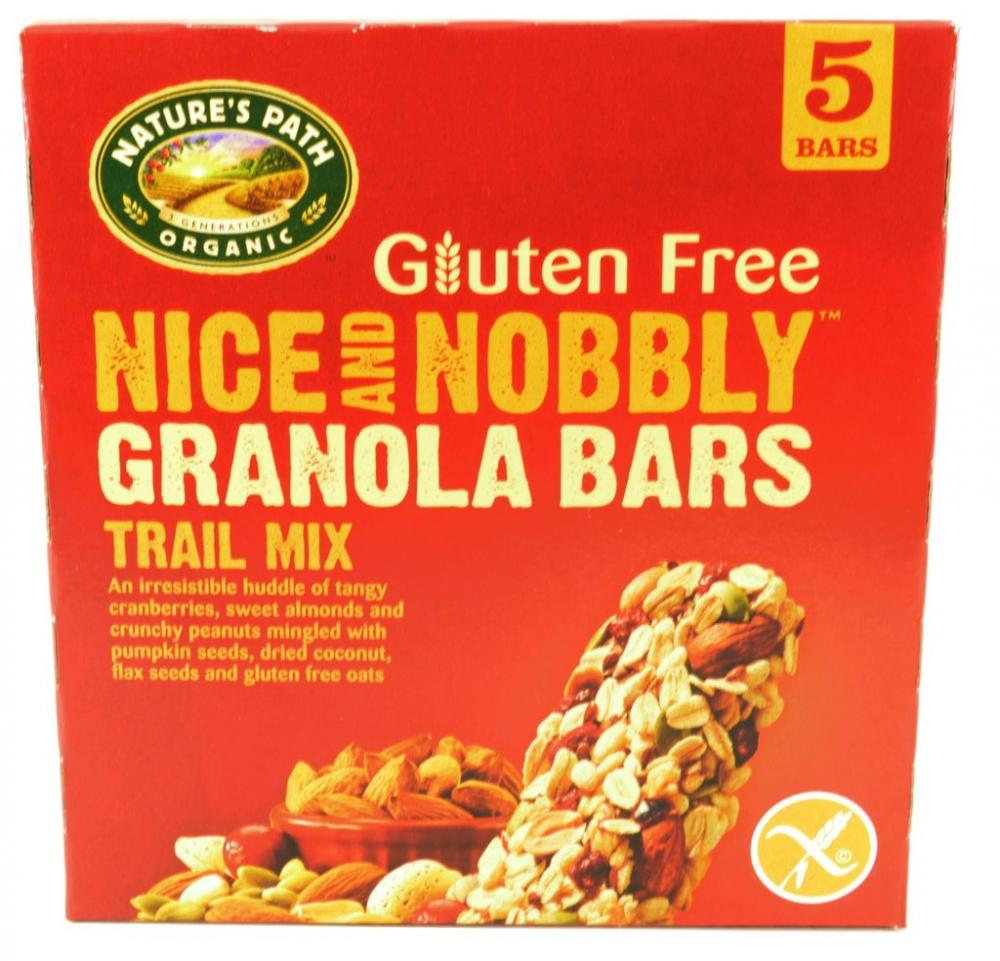 Natures Path Gluten Free Nice and Nobbly Granola Bars Trail Mix 35g x 5