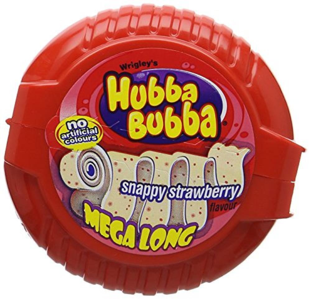 Hubba Bubba Bubble Tape Snappy Strawberry Bubble Gum 56g
