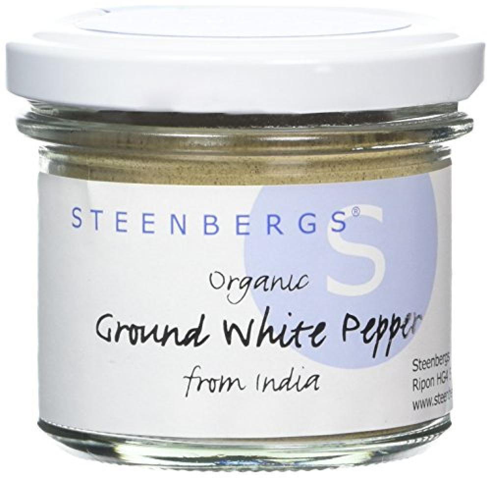 Steenbergs Organic White Pepper Ground 60 g