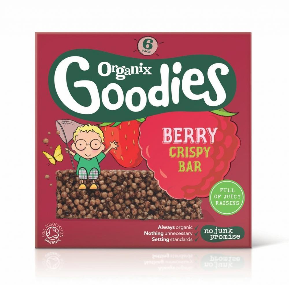 Organix Goodies Berry Crispy Bars 18g x 6