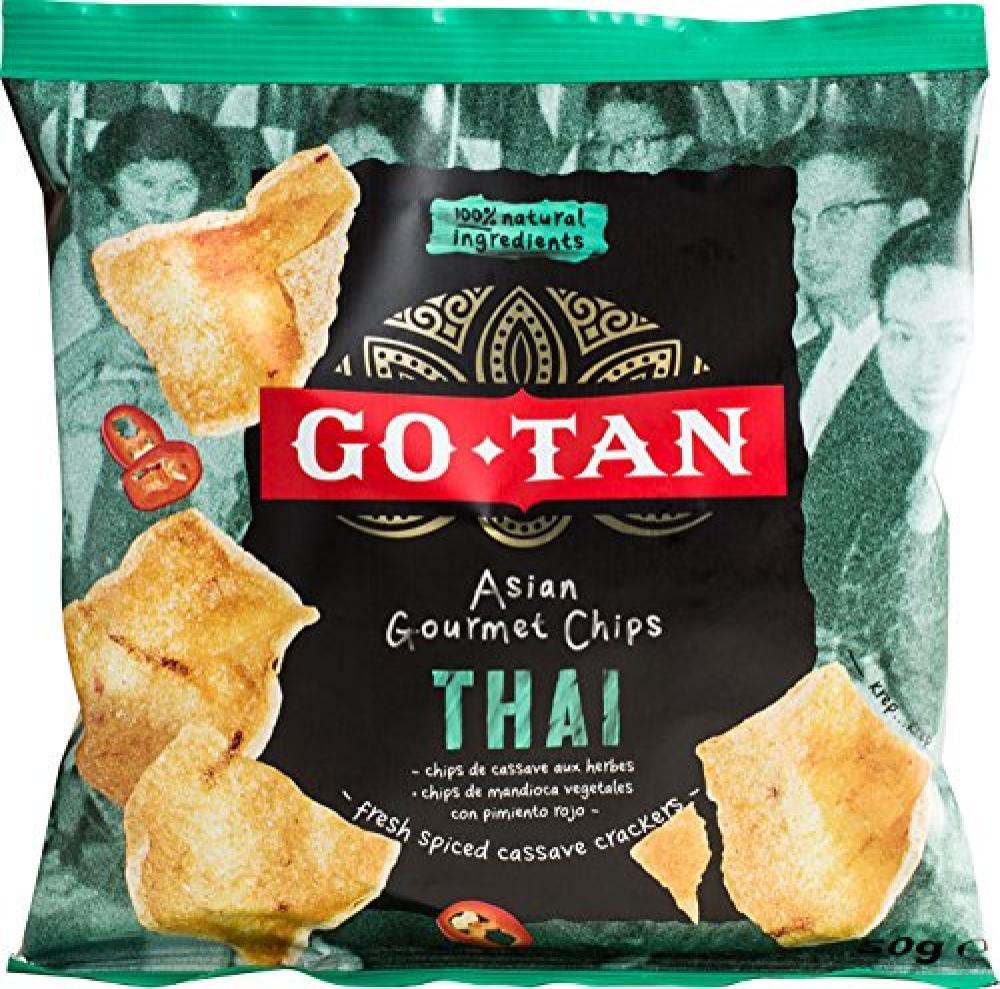 Go Tan Thai Fresh Spiced Cassava Crackers 50g