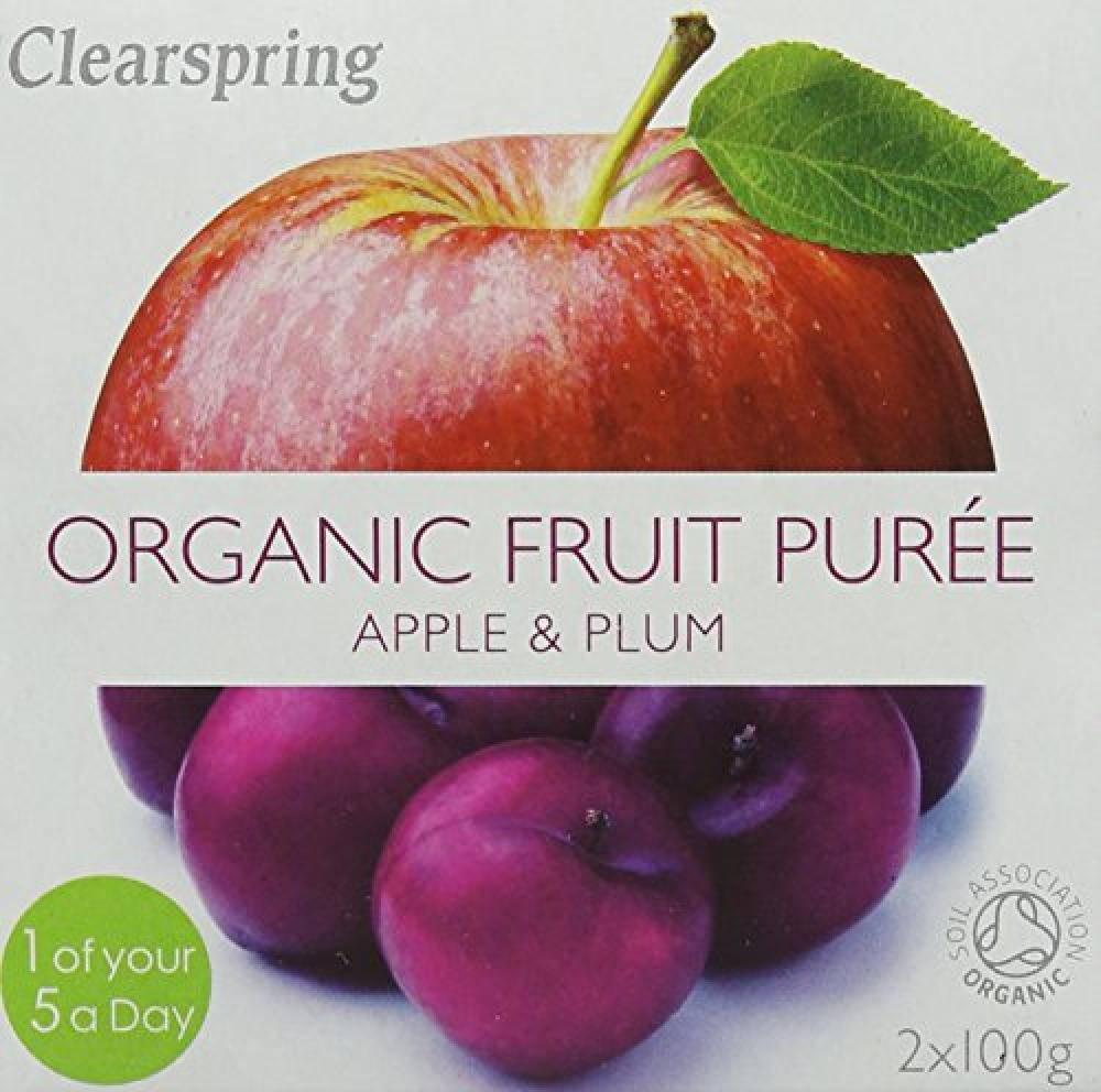 Clearspring Organic Apple and Mango Fruit Puree 2 X 100g