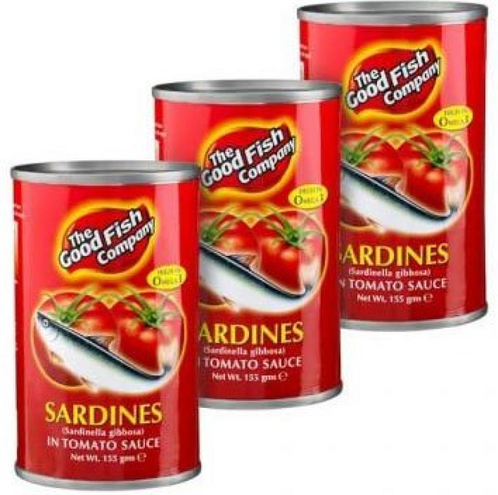 The Good Fish Company Sardines in Tomato Sauce 155g x 3