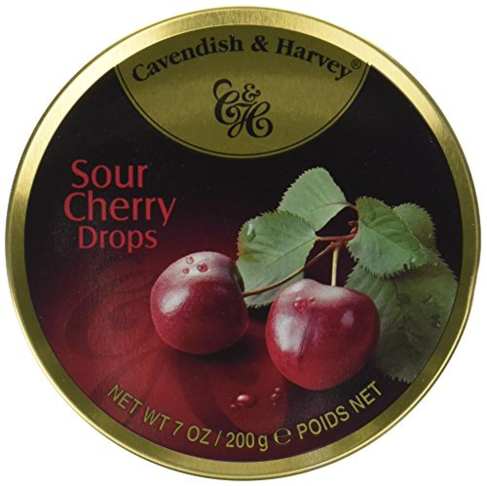 Cavendish and Harvey Travel Tin Sour Cherry Drops 200 g