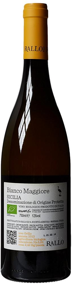 Cantine Rallo Bianco Maggiore Grillo IGP Sicilia 2013 Wine 75 cl